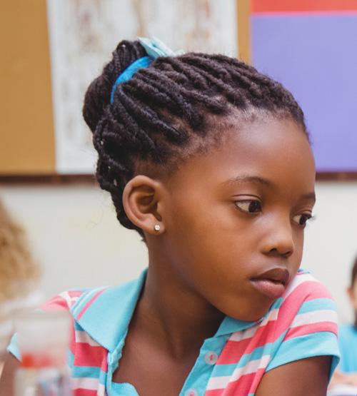 pretty little girl with braids
